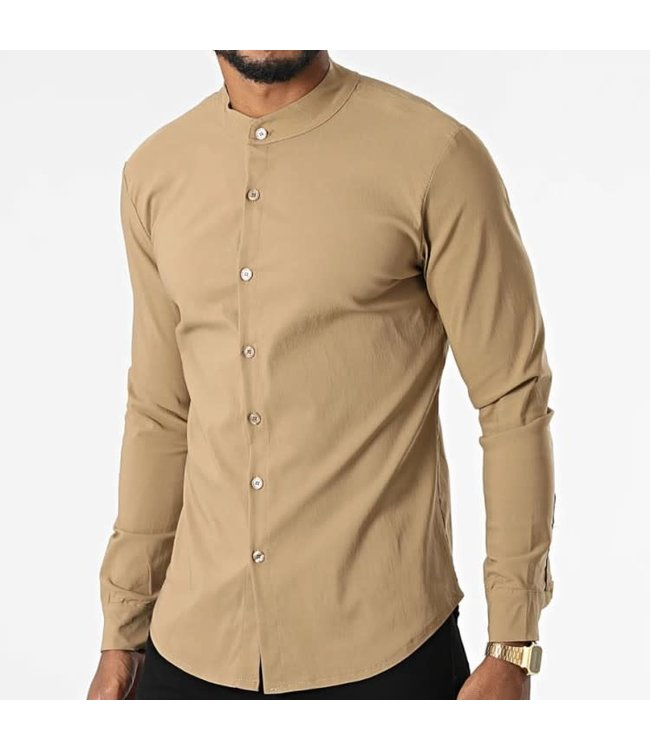 Uniplay Stretch Blouse Lange Mouw - Beige (UP-C070)