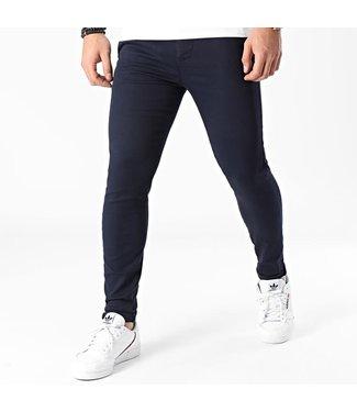 Frilivin Chino Pantalon Stretch - Marine Blauw (10015)