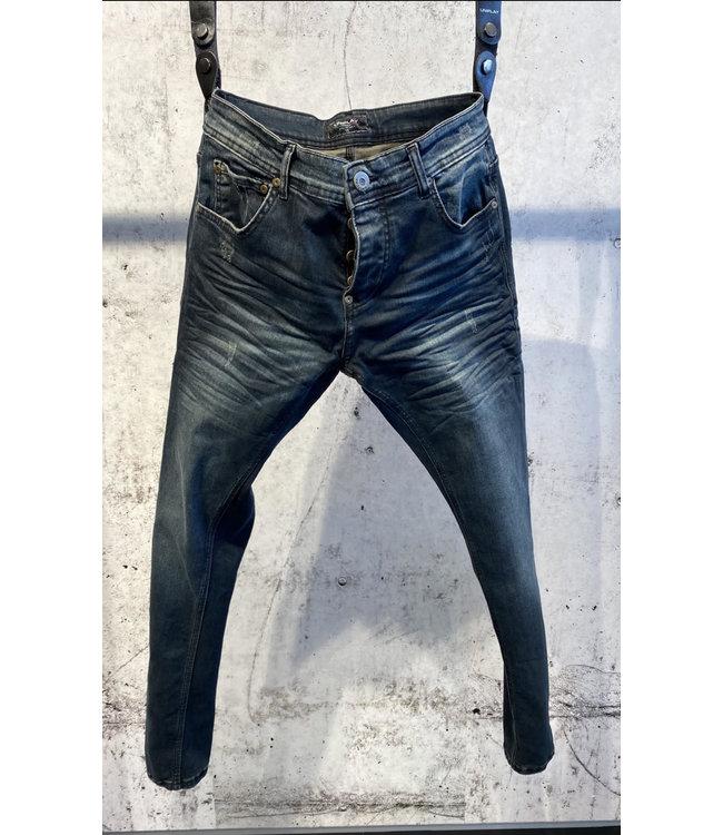 Uniplay Slim Fit Spijkerbroek - Blauw/Bruin (618)