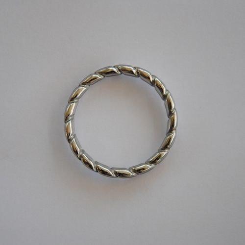 Classic Linten Donkergroen met Zilveren Ringen