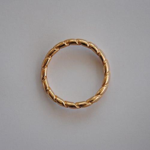 Classic Linten Loodgrijs met Gouden Ringen