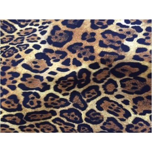 Classic Print Linten Jaguar met Gouden Ringen