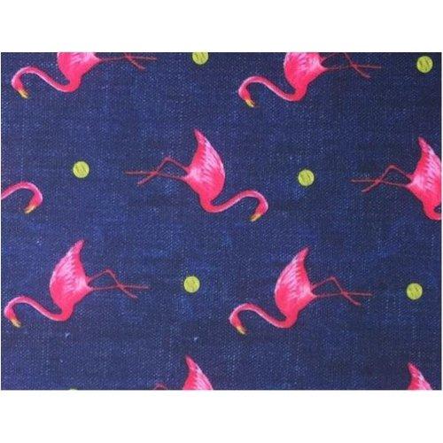Hoge Sok Flamingo Denim