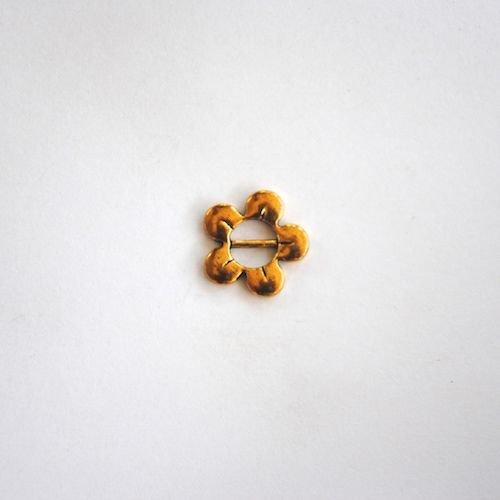 Gold Flat Flower Charm