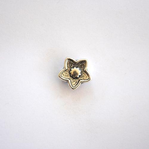 Silver Star Flower Charm