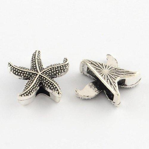 Silver Star Fish Charm