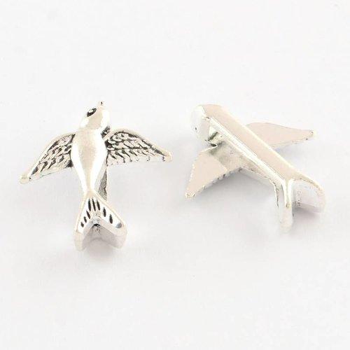Silver Bird Charm