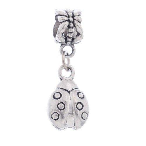Silver Lady Bug Charm