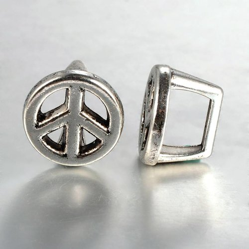 Silver Peace Sign Charm