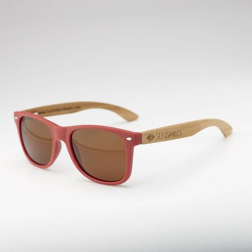 Bamboo Sunglasses  Burgundy