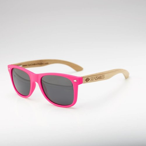 Bamboo Sunglasses Hot Pink