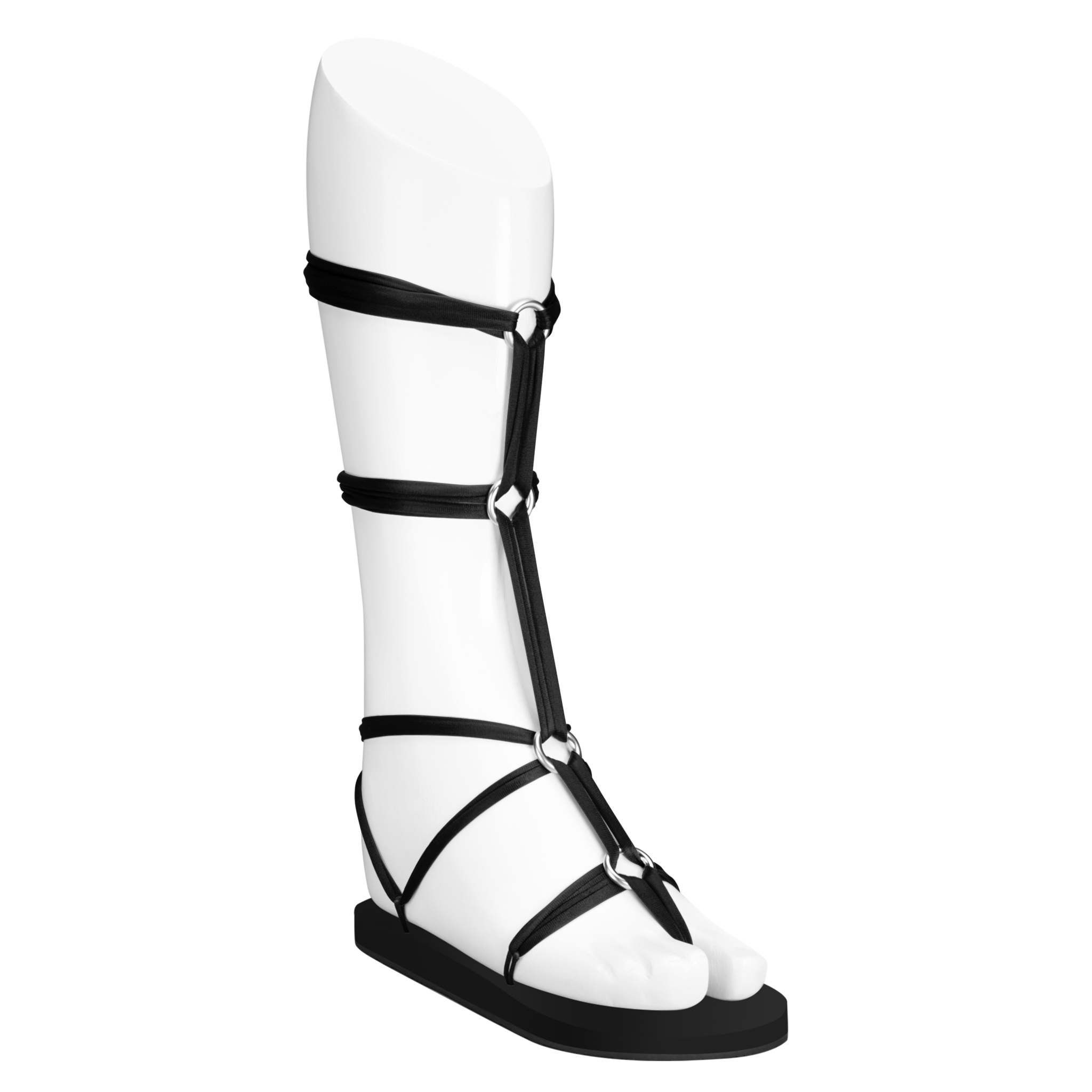 Black Gladiator Sandals | Memory Foam