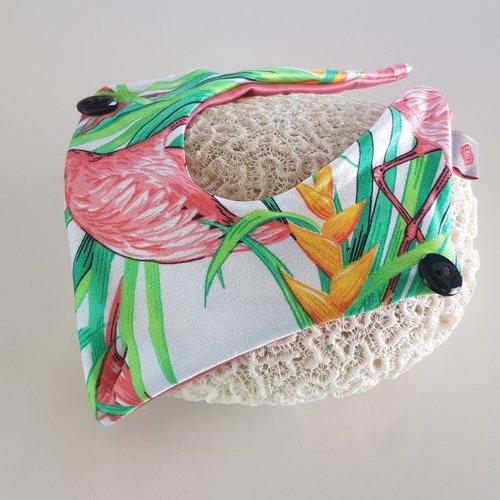 Fabric Sandals Mini White Flamingo