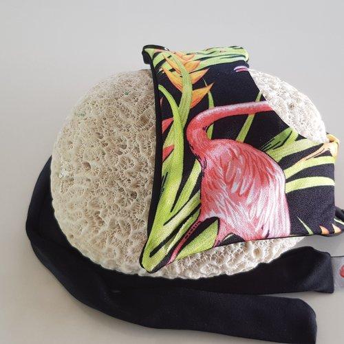 Fabric Sandals Ballet-style Black Flamingo