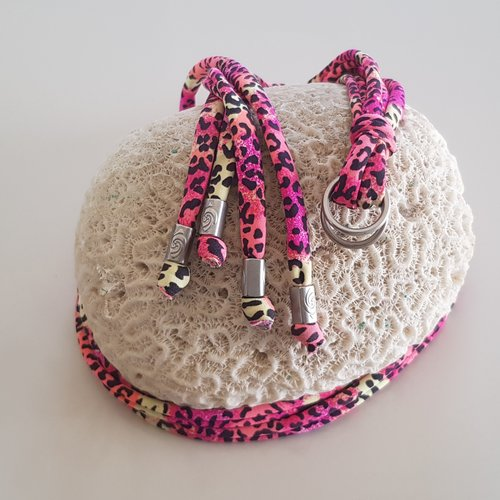 Gladiator Print Laces Pink Leopard