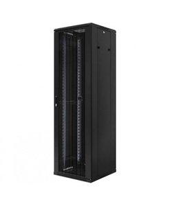 Serverkast 19'' 22U 600x1200x600mm (BxHxD) Gazen geperforeerde voordeur en achterzijde Zwart
