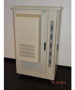 Serverkast 19'' 27U 900x1356x510mm (BxHxD) Stalen voordeur en achterzijde Grijs Outdoor IP55