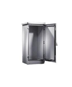 Serverkast 19'' 24U 1200x1200x500mm (BxHxD) Stalen voordeur en achterzijde Grijs IP55 CS New Basic enclosures Enkelwandig