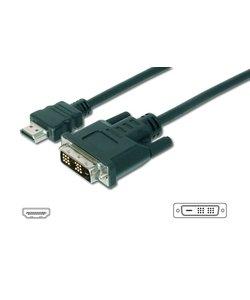 HDMI kabel A-DVI (18 +1) M / M 2 meter