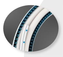 POF kabel in bocht