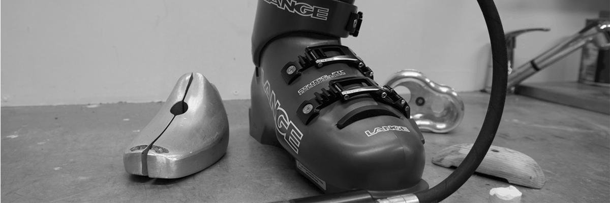 Lange skischoen bootfitting