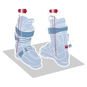 Canting skischoenen illustratie