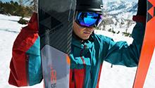 Skier met ski's