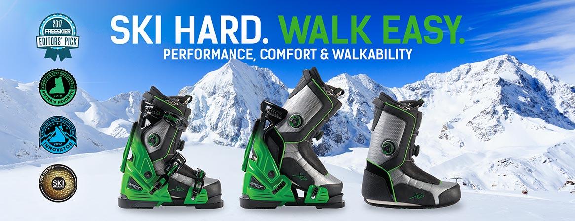 Apex skischoenen headline ski hard walk easy