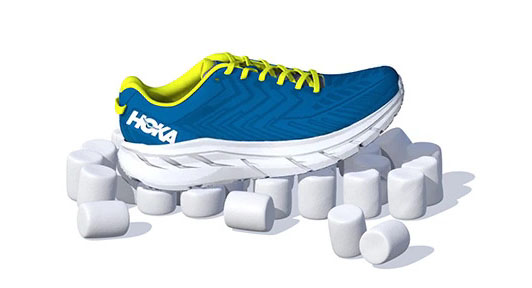 hoka RUNNING SHOE-cushioned-midsole