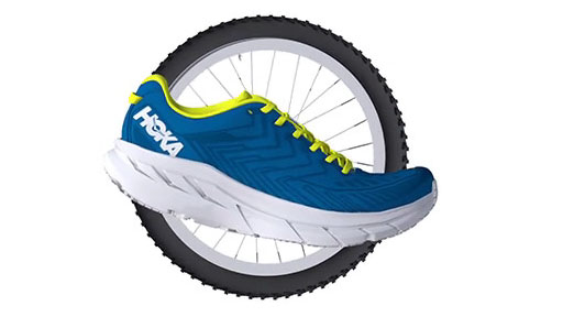 HOKA RUNNING SHOE META ROCKER TECHNOLOGY