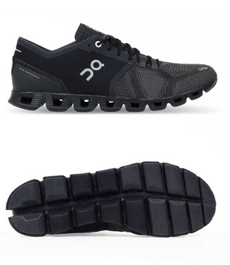 ON Running Cloud X Black/Asphalt Men Running