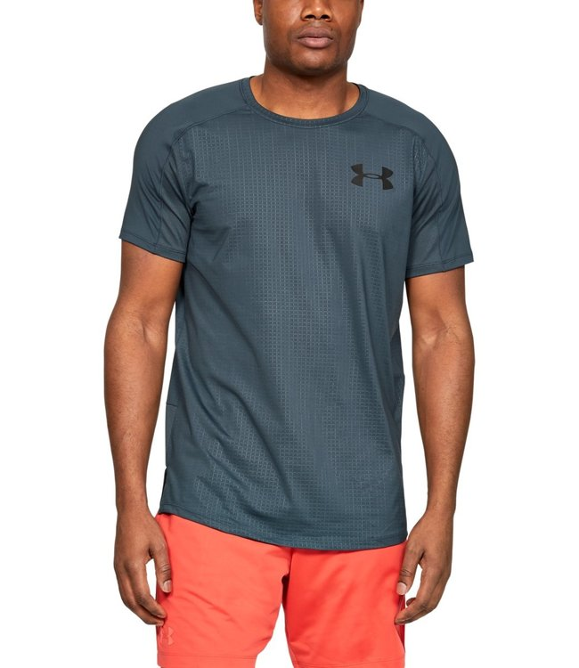 Under Armour MK1 SS Emboss-Green Tee men 1345248-073