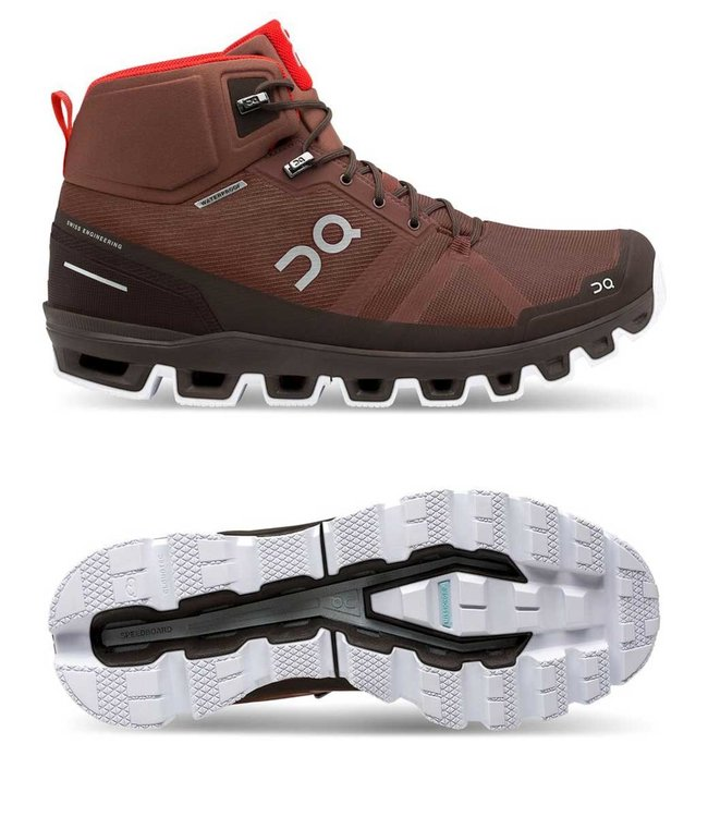 ON Running Cloudrock waterproof  | Cocoa | Red
