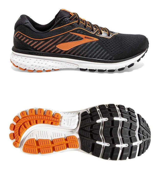 Brooks Ghost 12 Black/Turbulence/Orange