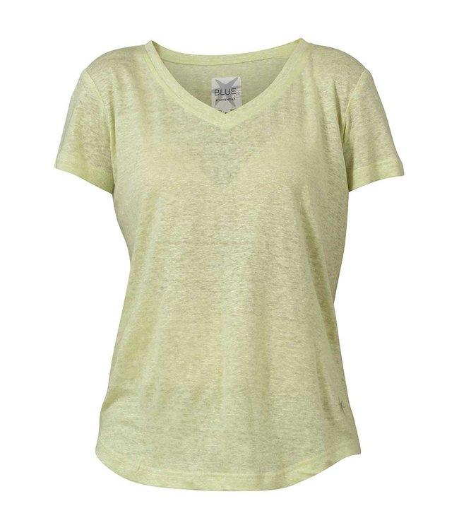 Blue sportswear Carolina Linen Tee Soft Green