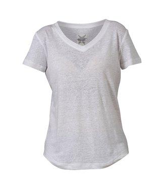 Blue sportswear Carolina Linen Tee White