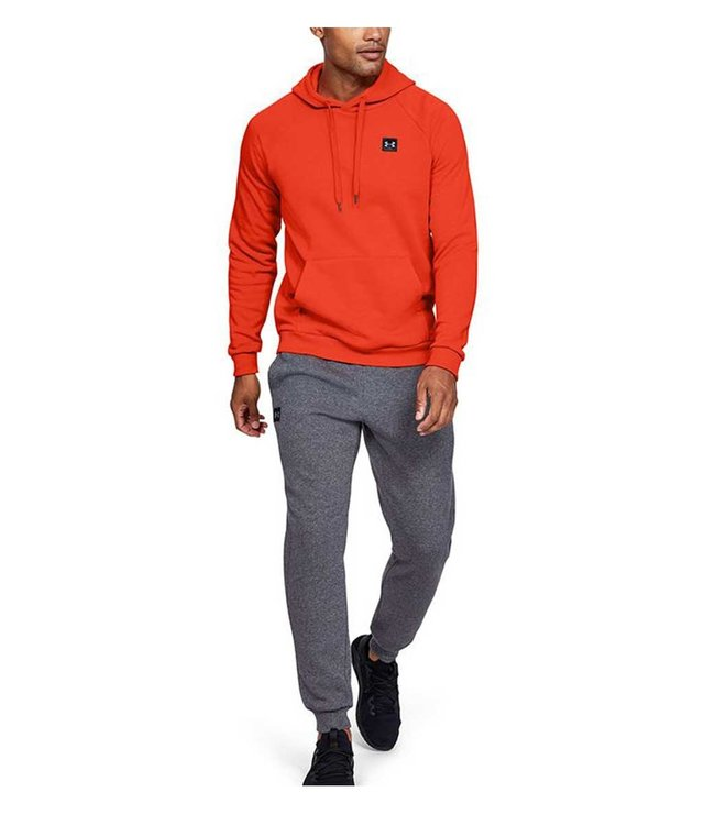 Under Armour Rival Fleece PO Heren Hoodie Orange