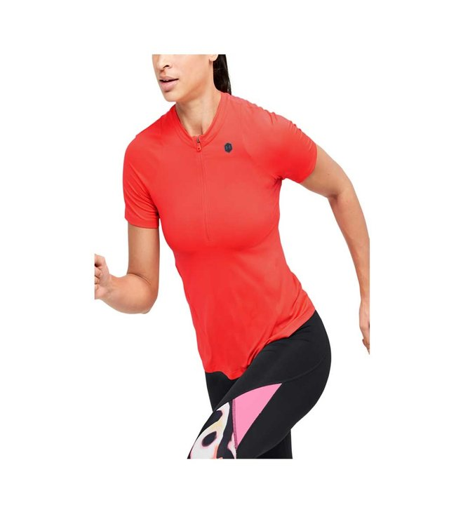 Under Armour UA Rush Vent SS - dames shirt rood