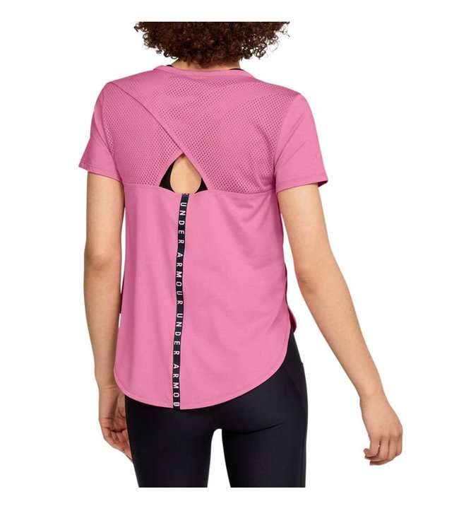 Under Armour UA Armour Sport Crossback SS Pink dames shirt