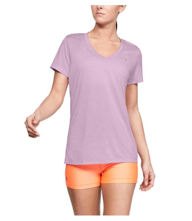 Under Armour Tech SSV-Twist Pink dames shirt