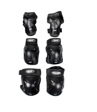 Roces Ventilated 3-Pack Black