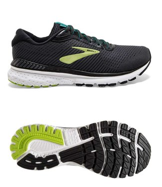 Brooks Adrenaline GTS 20  Black/Lime/Blue Grass