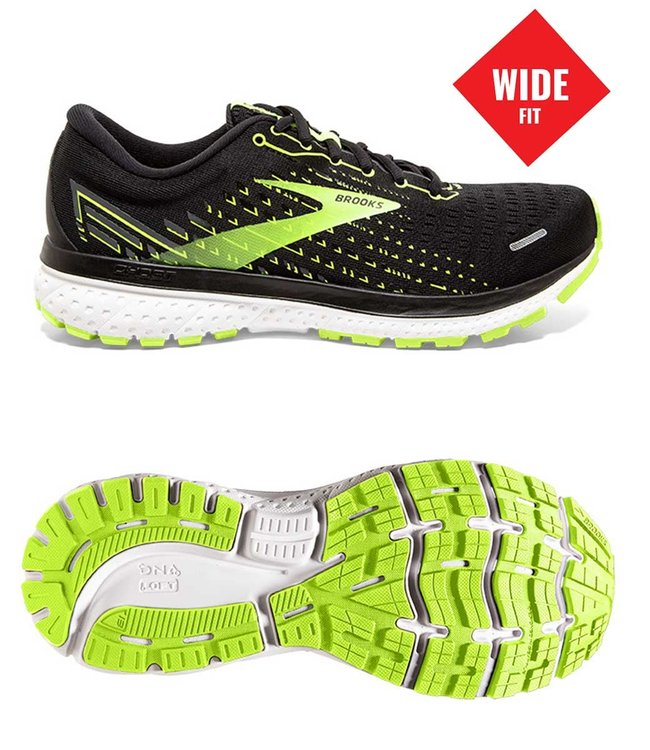 Brooks Ghost 13 wide 2E Black/Nightlife/White