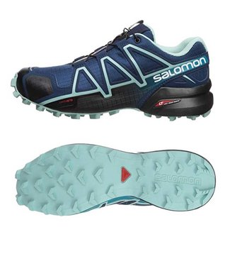 Salomon Speedcross 4 Wide w Poseidon/Eggshell Blue Black 402374