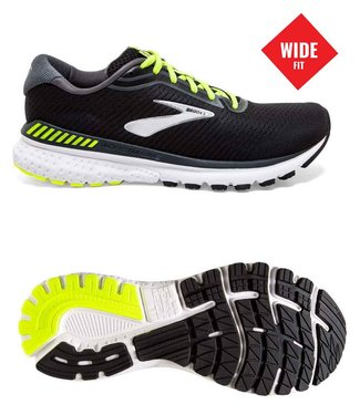 Brooks Adrenaline GTS 20  Wide  2E Black/Lime/Blue Grass
