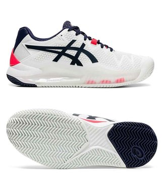 Asics Gel-Resolution 8 clay w White/Peacoat