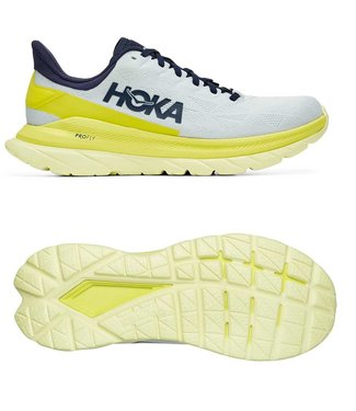 Hoka one one M Mach 4 Blue Flower/Citrus