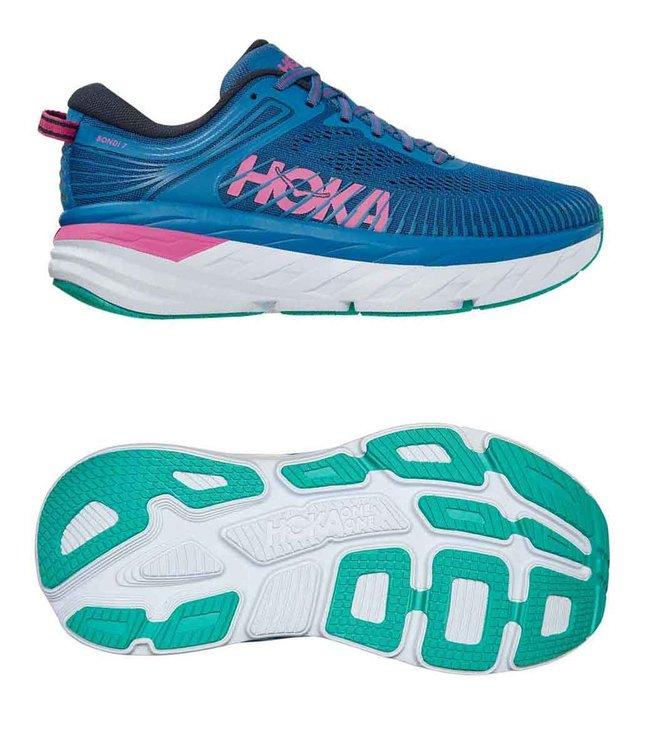 Hoka one one W Bondi 7  Vallarta Blue / Phlox Pink