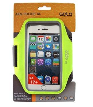 GATO sports Arm pocket XL telefoonhouder neon yellow