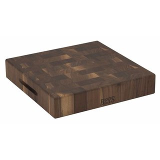 Walnut Collection hakblok 37 x 37 x 7,5 cm walnoot